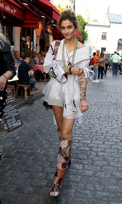 Paris Jackson strolled the streets of Paris as she headed to the Dior Couture s/s Cruise Collection welcome dinner in Montmartre.