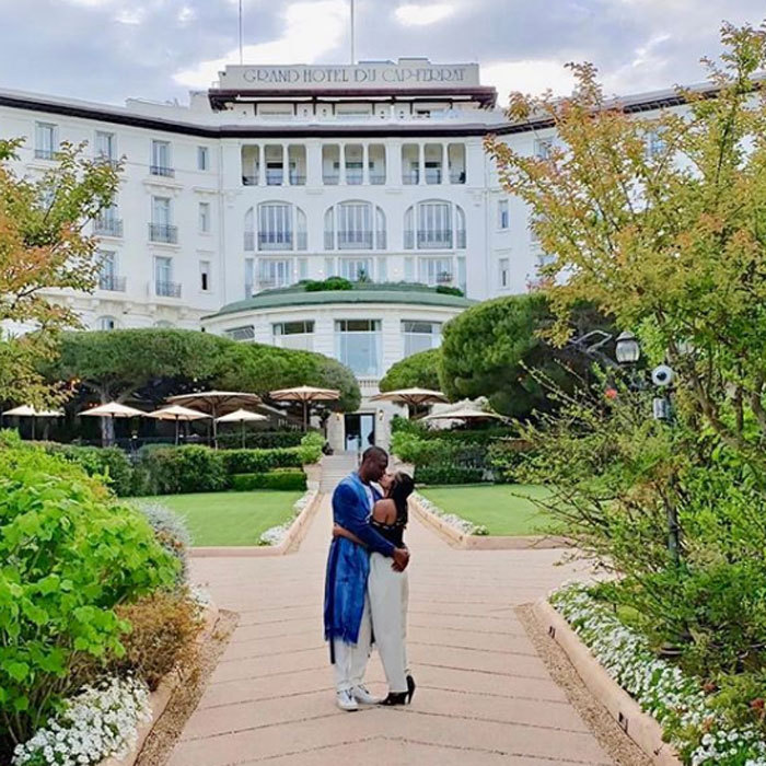"Gabrielle Union and Dwyane Wade had quite the backdrop for a kiss in France. The couple continued their #WadeWorldTour at the Grand-Hotel du Cap-Ferrat, A Four Seasons Hotel. ""Living for the #WadeWorldTour2018 this weekend thanks to @bookingcom  #BookingYeah #BookingPartner.""