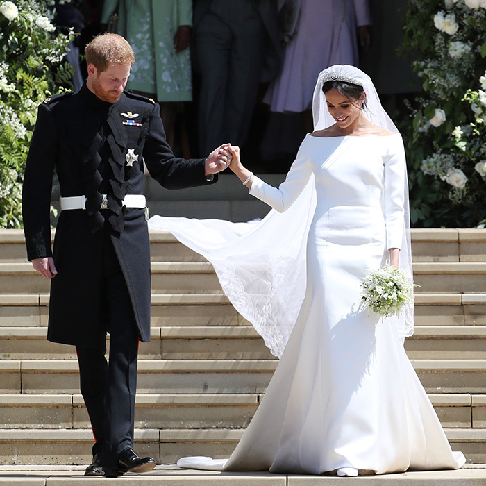 "When <a href=""https://us.hellomagazine.com/tags/1/meghan-markle/""><strong>Meghan Markle</strong></a> walked down the aisle at the <a href=""https://us.hellomagazine.com/prince-harry-meghan-markle-the-royal-wedding/""><strong>royal wedding</strong></a> as she married <a href=""https://us.hellomagazine.com/tags/1/prince-harry/""><strong>Prince Harry</strong></a>, her choice of wedding dress was perfectly in line with her famously classic fashion sense. This royal bride bucked bridal trends like lavish lace and elaborate beading in favour of a modest, clean-lined, long-sleeved wedding dress by Claire Waight Keller for Givenchy which allowed her beautiful veil, with its lace and floral embroidery, make a statement of its own. 