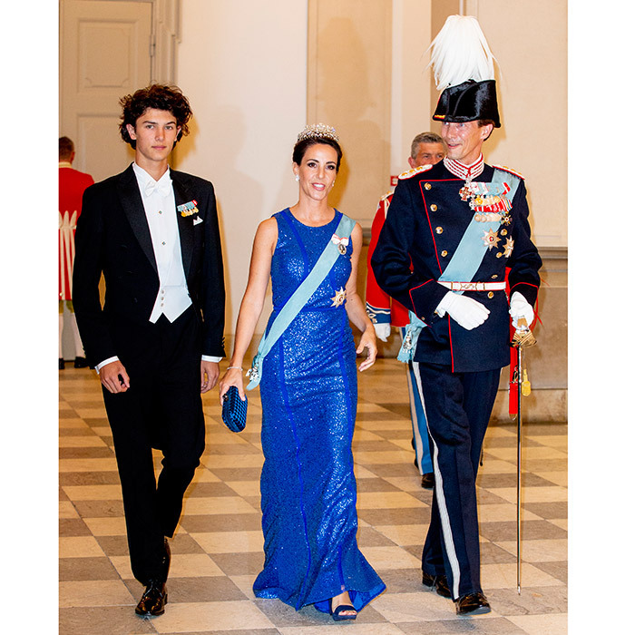 Another young royal in the spotlight – 18-year-old Prince Nikolai of Denmark, left – attended Prince Frederik's birthday party with dad Prince Joachim and stepmother Princess Marie. Nikolai's budding modelling career put him in the spotlight this year after his star turn on the Burberry runway. 