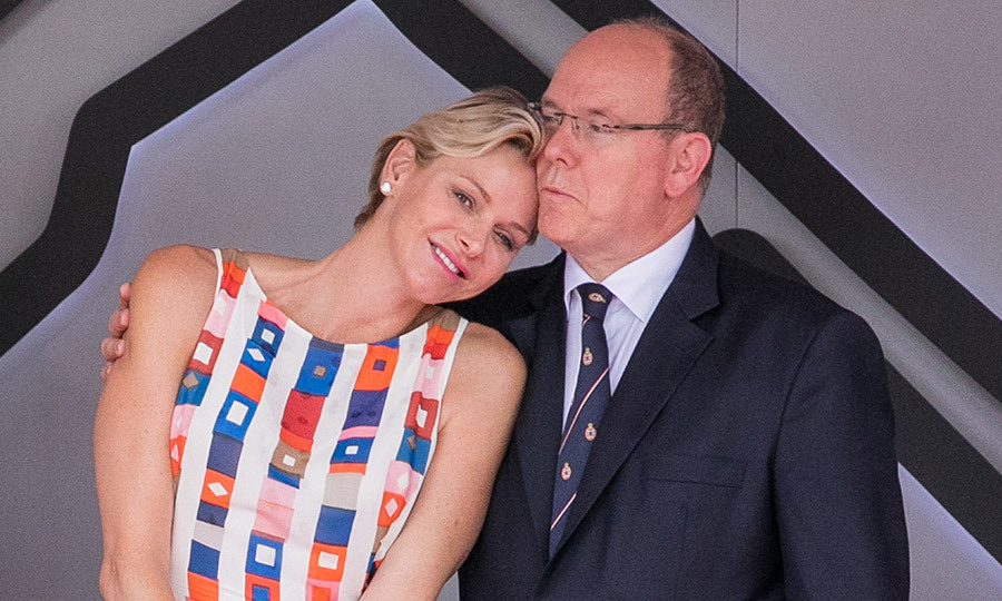 Princess Charlene also shared a sweet moment on the podium with husband Prince Albert during the F1 races in Monte-Carlo.