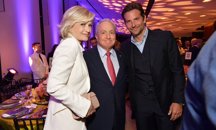 Bradley Cooper looked dashing alongside Diane Sawyer and Lorne Michaels at the American Songbook Gala in NYC. The actor stepped out without his love Irina Shayk for the evening at Alice Tully Hall.
