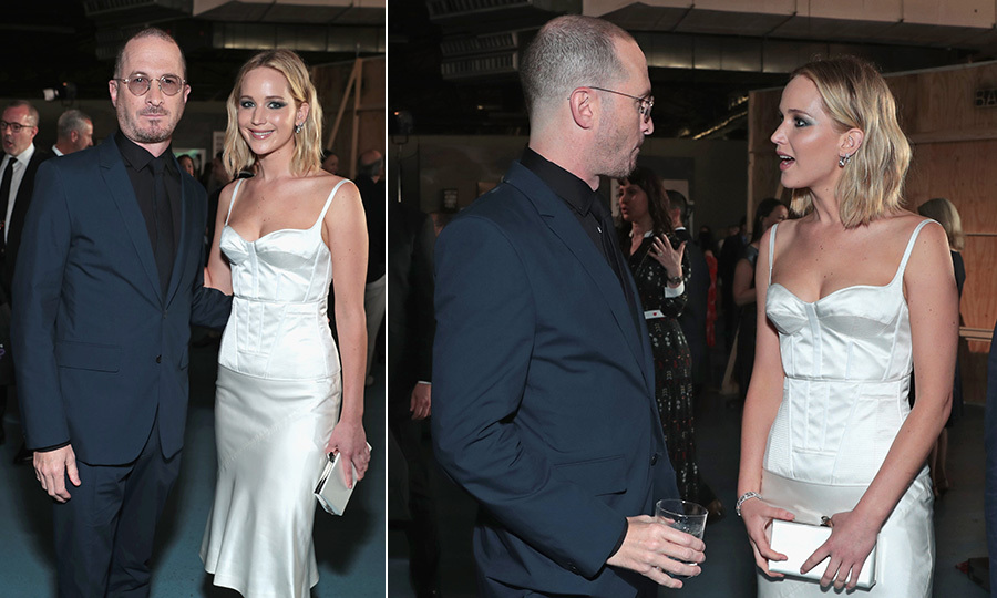 Fancy meeting you here! Jennifer Lawrence had a mini-reunion with her ex-boyfriend, director Darren Aronofsky,  when she presented him with an honorary award at the Brooklyn Academy of Music Gala on May 30. The filmmaker, who directed the Oscar-winning actress in his 2017 movie <I>Mother!</I>, chatted with his former love amicably backstage before the BAM presentation. 