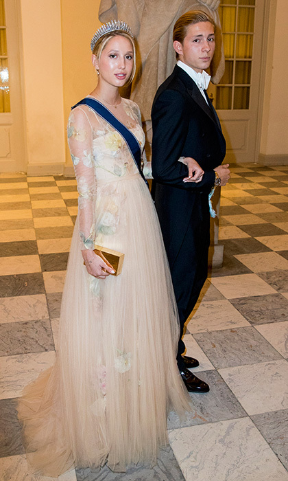 Princess Olympia of Greece also wore sweet florals to the Copenhagen gala, where she was accompanied by her brother Prince Achileas-Andreas.