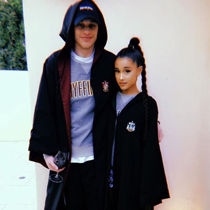 "Ariana Grande and Pete Davidson took their romance to Instagram. The <i>Saturday Night Live</i> comedian shared a photo with the <i>No Tears Left to Cry</i> singer in <i>Harry Potter</i>-inspired looks. Pete wore a Gryffindor hoodie with a matching cloak, while Ariana was dressed in Slytherin attire. The comedian captioned the sweet snap: ""The chamber of secrets has been opened…""