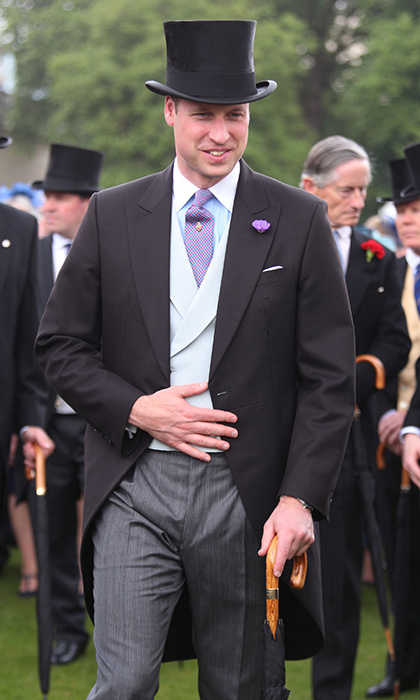 A very dashing Prince William, the Duke of Cambridge was in tip top shape in his top hat at his grandmother Queen Elizabeth's Buckingham Palace get together. 