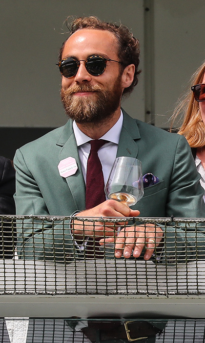 Duchess Kate's brother James Middleton was off to the races on June 1, as he headed to Ladies Day at the Investec Derby Festival at Epsom Downs Racecourse in Epsom, England.