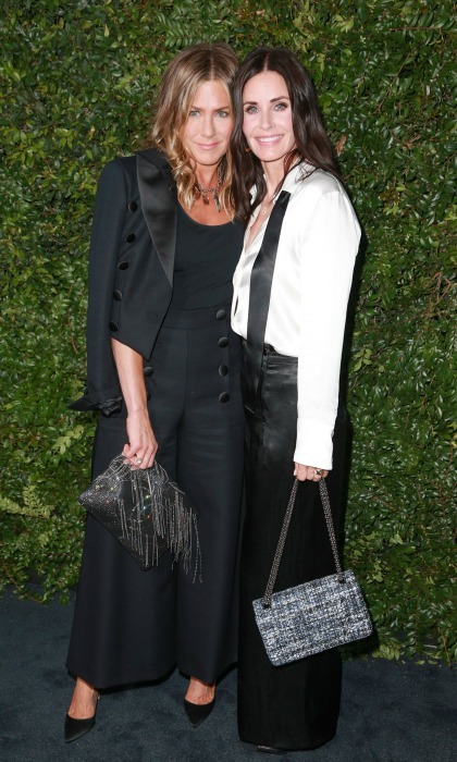 I'll be there for you! Jennifer Aniston and Courteney Cox were bestie goals as they stepped out for the Our Majestic Oceans Benefit Dinner hosted by Chanel on Saturday, June 2 in Malibu. The longtime friends looked gorgeous, coordinating in chic tuxedo-inspired ensembles by Chanel, of course.