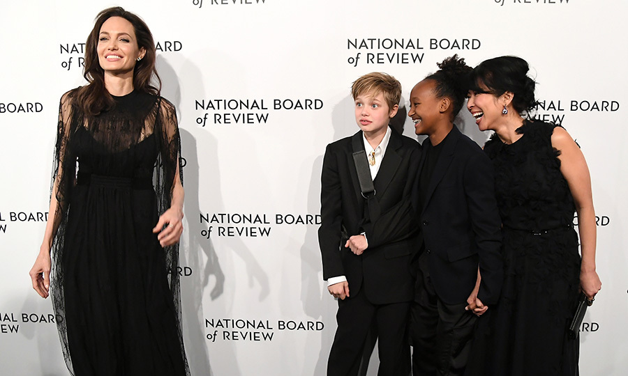 All eyes were on the superstar mom – especially those of Shiloh, Zahara and human rights activist Loung Ung – at the 2018 National Board of Review Awards Gala at Cipriani 42nd Street in January 2018.