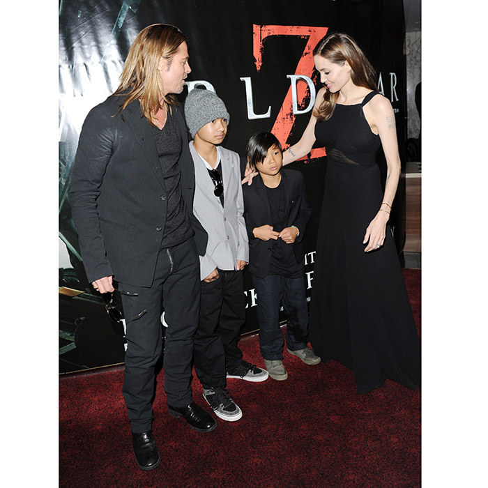 Maddox and his little brother Pax joined their parents Angelina Jolie and Brad Pitt for dad's big debut in <I>World War Z</I> at The Empire Cinema in London back in 2013.
