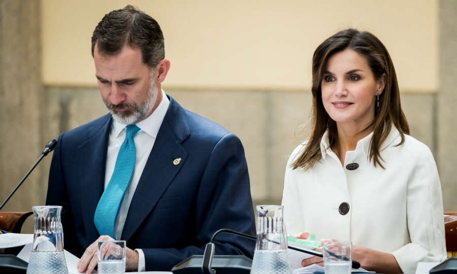 A day earlier, King Felipe and his wife Queen Letizia, who looked to be her usual chic self, attended an important charity meeting for the Princess of Asturias Foundation.