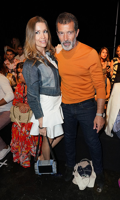 Antonio Banderas and girlfriend Nicole Kimpel hit the front row at Miami Fashion Week! The couple were spotted at the Custo Barcelona presentation held at Ice Palace studios on June 2.