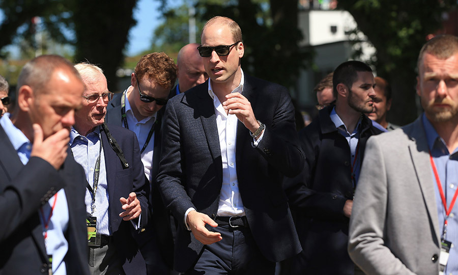 If dad-of-three Prince William is losing sleep with newborn Prince Louis, no one could tell as he arrived to visit the Isle of Man! The Duke of Cambridge was wearing dark shades for the jaunt on June 6.