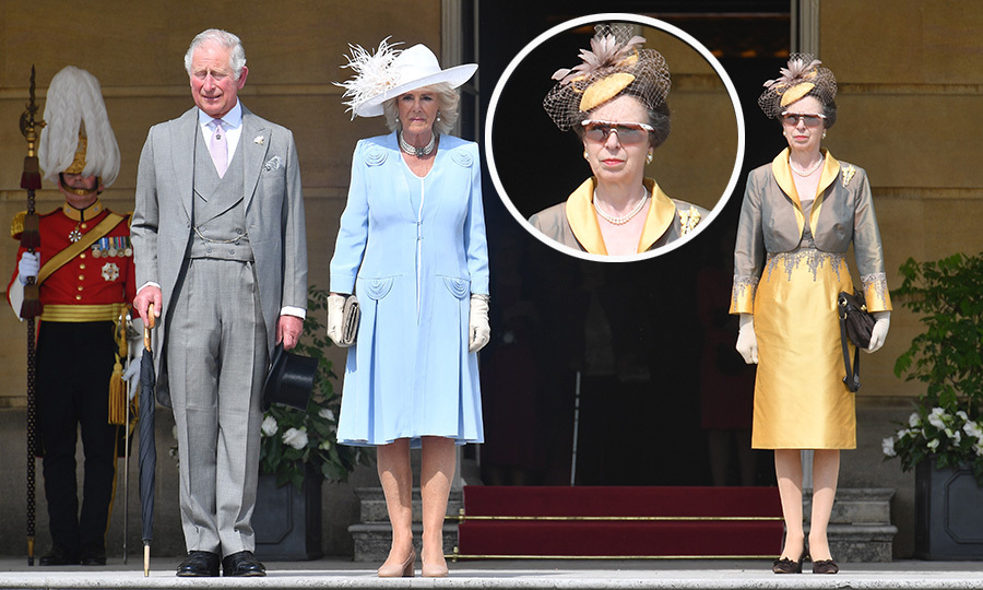 Also attending the Garden Party were Prince Charles's wife Camilla and his sister Princess Anne, who looked especially cool in her futuristic shades. 
