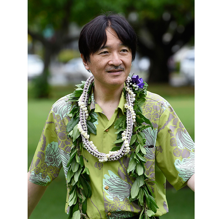 Prince Akishino of Japan travelled to Hawaii to mark the 150th anniversary of Japanese immigration to the Hawaiian islands. Here the royal attends a tree planting ceremony at Thomas Square Park in Honolulu on the island of Oahu. 