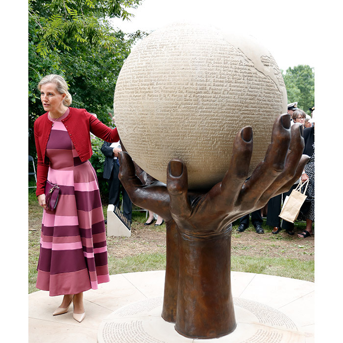 Sophie, the Countess of Wessex helped unveil a new memorial commemorating the service of WWI and WWII-era Professional and Voluntary Aid Detachment (VAD) Nurses at the National Memorial Arboretum in Stafford, England. 