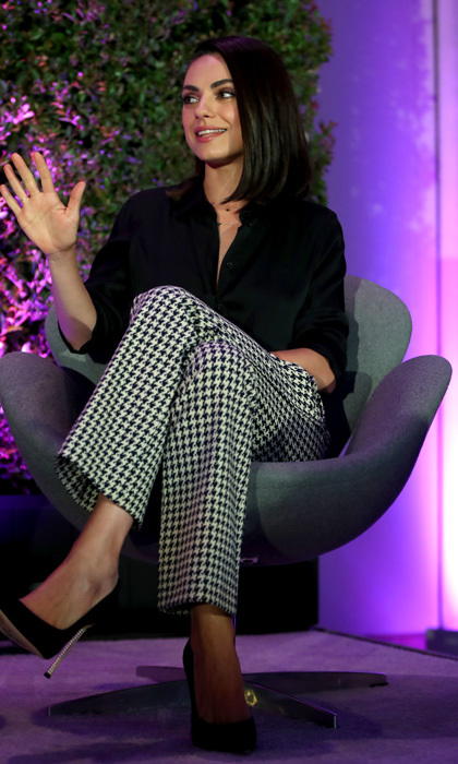 Check mate! Mila Kunis was one of the speakers at Variety's Path to Parity Summit at the Jeremy Hotel in West Hollywood.