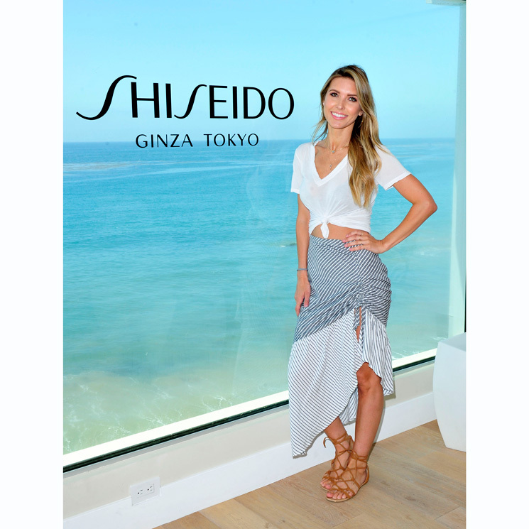 Audrina Patridge pampered herself at the Shiseido Sun Beach House in Malibu where the mom was able to indulge in yoga, paddle boarding in the Pacific as well as learned about the must-have skin products for the summer.
