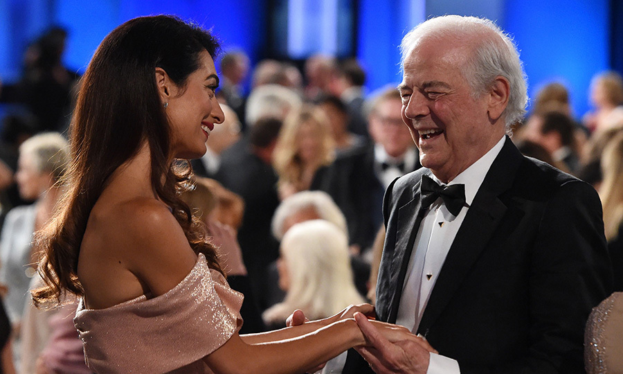 The affection was clear to see as Nick clutched Amal's hands in his during the gala. The retired journalist also took to the stage to pay tribute to his actor-director son.