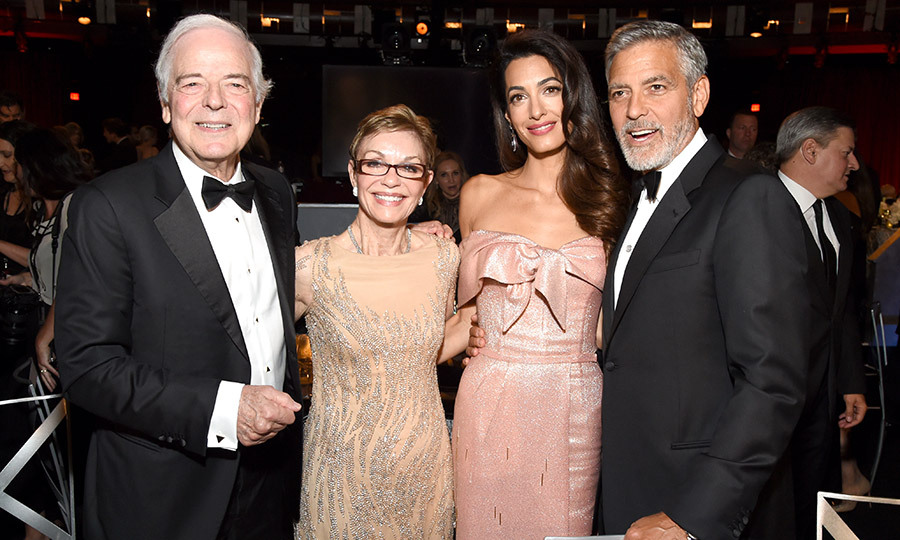 "With the in-laws! Amal looked right at home with George's parents Nick and Nina Clooney. Dad Nick has previously described his daughter-in-law as a ""superwoman"".