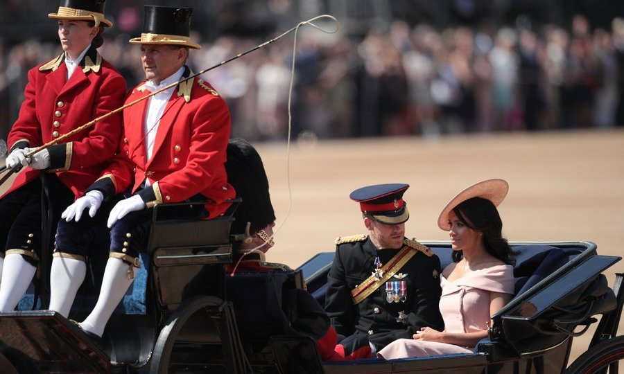 The royal couple have just returned from their top secret honeymoon, and the Trooping the Colour event marked their first post-wedding step into royal life.