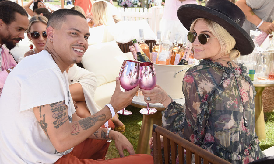 Evan and Ashlee Simpson Ross had the right idea when it came to celebrating National Rosé Day. The couple sipped Moët & Chandon during the event that showcased different types of rosé wine and champagne along with food curated by Iron Chef Marc Forgione. 