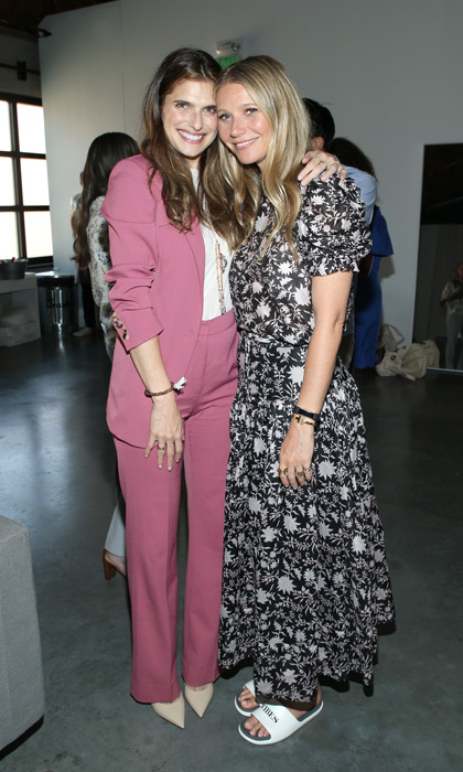Lake Bell supported friend Gwyneth Paltrow during the goop Health Wellness Summit at Shutters on the Beach in Santa Monica, California. Guests that also included Meg Ryan, Mena Suvari and Whitney Port were able to stop by different stations including a No Makeup-Makeup area by Glamsquad, and they could have a tarot reading by Angie Banicki.