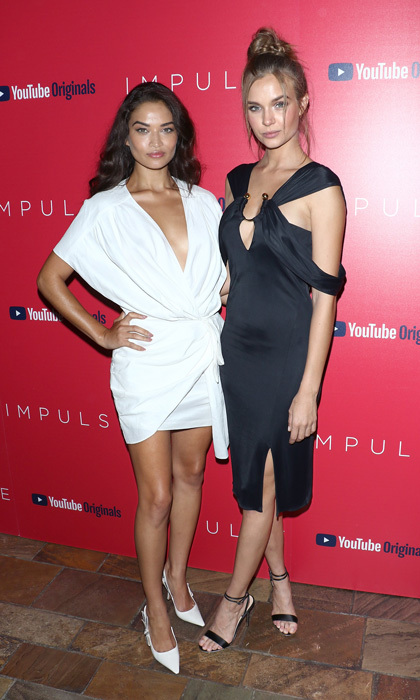 Josephine Skriver and Shanina Shaik were the yin to the other's yang at the screening of  <i>Impulse</i> hosted by YouTube at The Roxy Cinema in NYC.
