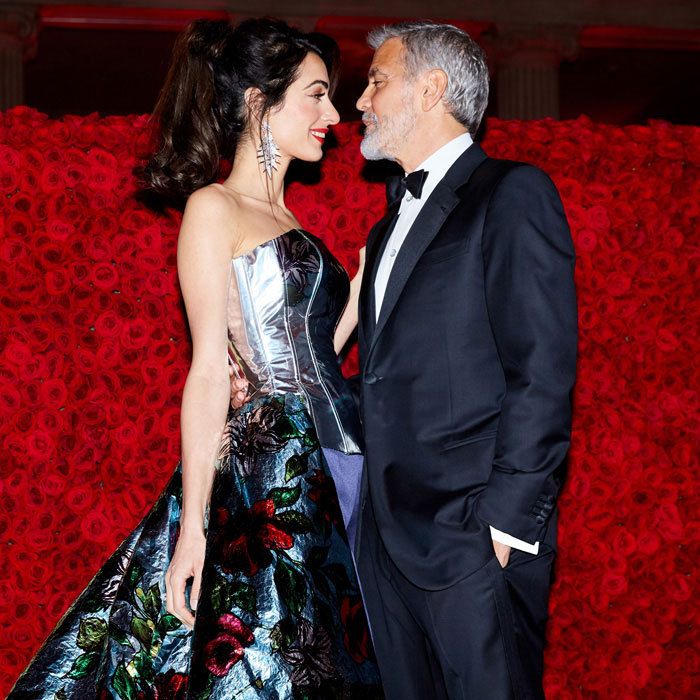 The fairest rose of them all! George only had eyes for his gorgeous wife at the Heavenly Bodies: Fashion & The Catholic Imagination Costume Institute Gala in New York City on May 7, 2018.