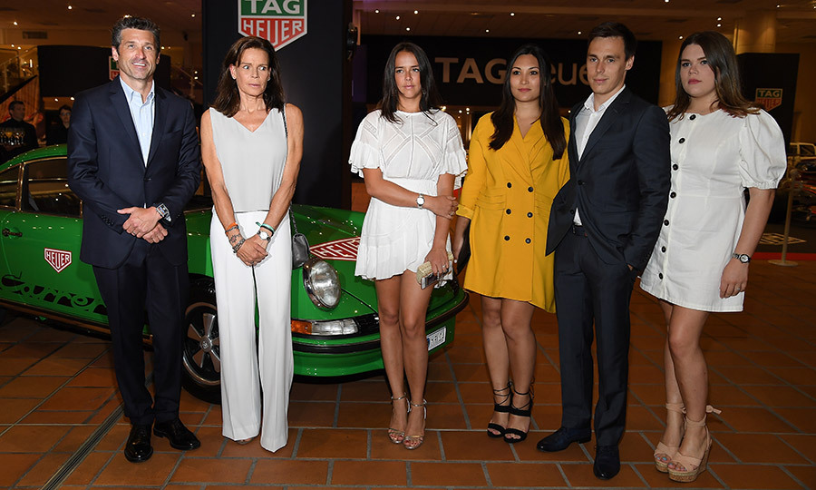 Silver screen legend Princess Grace of Monaco's family met Hollywood star and TAG Heuer ambassador Patrick Dempsey at an event for the luxury watch company in Monte Carlo. Princess Stephanie, second from left, next to the <I>Grey's Anatomy</I> actor, was joined by her three children – Pauline Ducruet, center, Camille Gottlieb, far right, and Louis Ducruet – as well as her future daughter-in-law Marie Chevallier, wearing yellow.