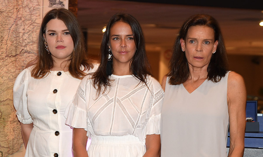 Mother and daughters: from left to right, Camille Gottlieb, 19, Pauline Ducruet, 24, and Princess Stephanie. While Pauline is often spotted at fashion events, including Paris Fashion Week, this appearance at the Tag Heuer gathering was a more rare public appearance for her younger sister.