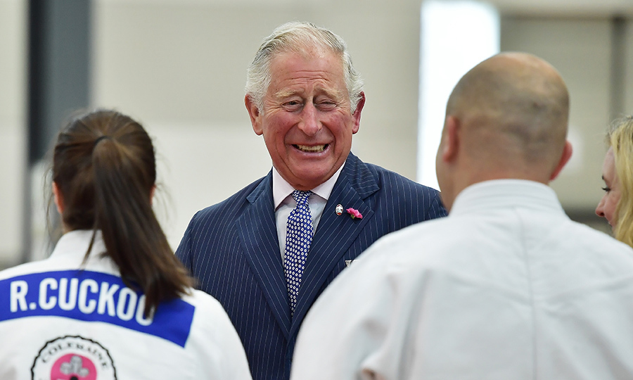 Prince Charles broke into laughter as he visited a judo demonstration during a visit to Ulster University's Colraine Campus on June 12. The Prince of Wales and the Duchess of Cornwall were in the midst of a four-day visit to Northern Ireland and the Republic of Ireland. 