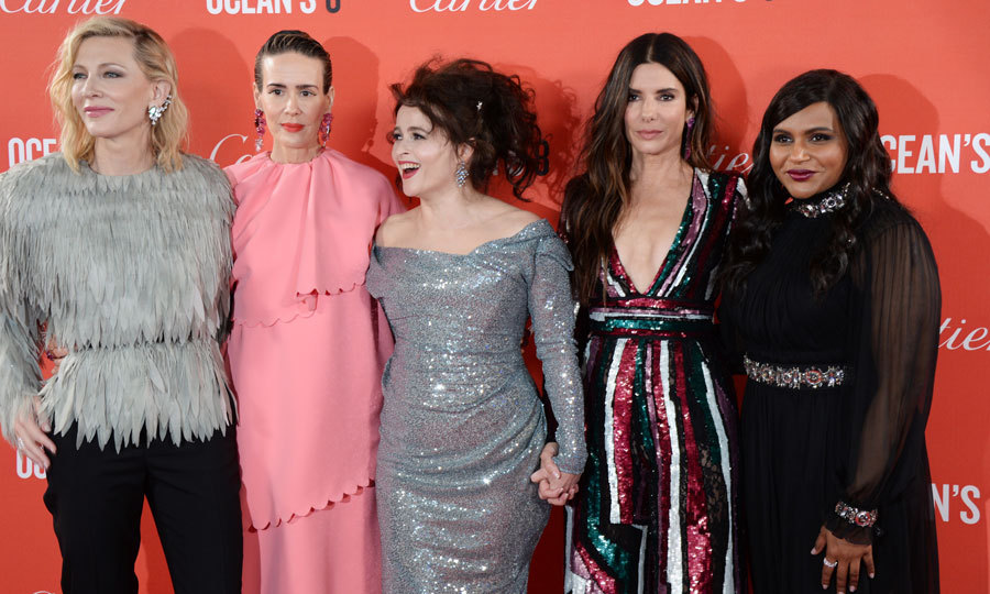 Cate Blanchett, Sarah Paulson, Helena Bonham Carter and Mindy Kaling took the London carpet of <i>Ocean's 8</i> by storm in haute couture. 