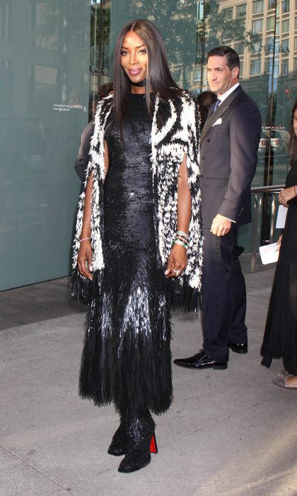 Naomi Campbell wore one of Kate Middleton's favorite designers to the Fragrance Foundation Awards in NYC. The supermodel stepped out in Alexander McQueen by Sarah Burton for the event.