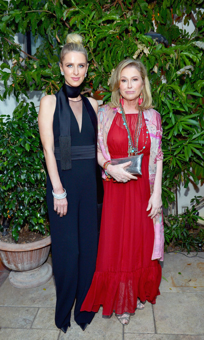Nicky and Kathy Hilton had a fashionable mother-daughter date in L.A. at the Max Mara and Vanity Fair Women in Film celebration.