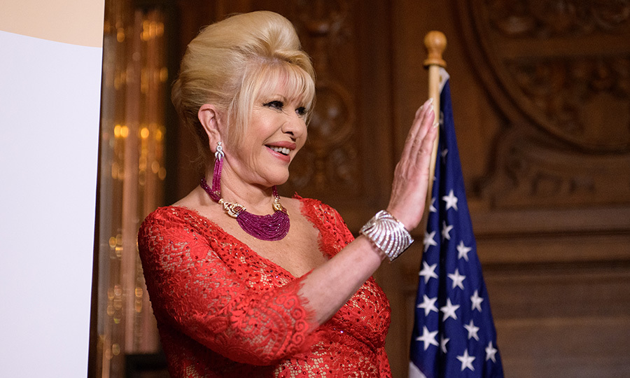 President Trump's ex-wife Ivana Trump held a press conference to announce her new campaign to fight obesity in New York City on June 13. 