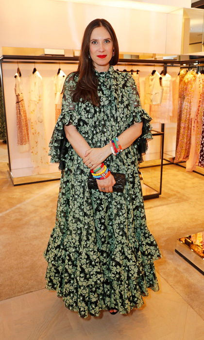 Tatiana Casiraghi also joined Amal at the star-studded bash. The royal mom, who welcomed her and Andrea Casiraghi's third child in April, looked stylish in a floral printed dress for the Giambattista Valli store opening.