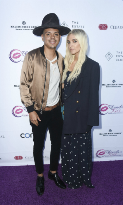 "Evan Ross and Ashlee Simpson Ross supported Rhonda's Kiss fundraising dinner ""Kiss The Star"" at the Estate Club's Sky Castle Estate in the Hollywood Hills on June 13.