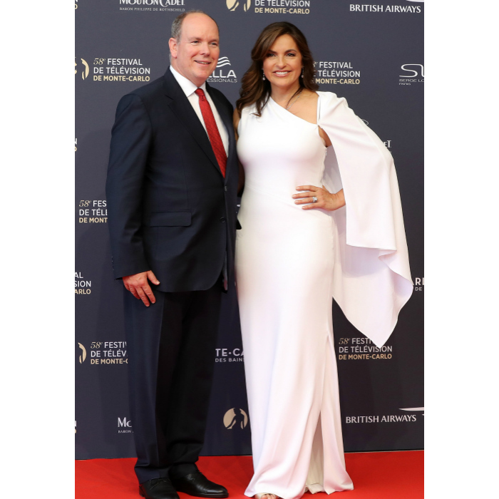 "The royals were surrounded by stars from the small screen like <i>Law & Order</i> leading lady Mariska Hargitay. Albert presented Mariska with the Crystal Nymph Award, which is given to an actor each year in recognition of their outstanding career. While presenting her the award, the monarch described her as a ""brilliant actress and an outstanding personality.""