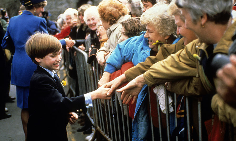A future King's first walkabout! Prince William looked like a natural as he joined his mother Princess Diana on his first-ever official royal engagement on March 1, 1991 in Cardiff, Wales.