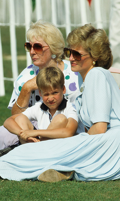While his mother Princess Diana wore her trendy shades, Prince William squinted in the summer sun as they watched the Cartier Polo Trophy match on July 7, 1989 in Windsor, England. Prince William, of course, would grow up to be an avid polo player himself.