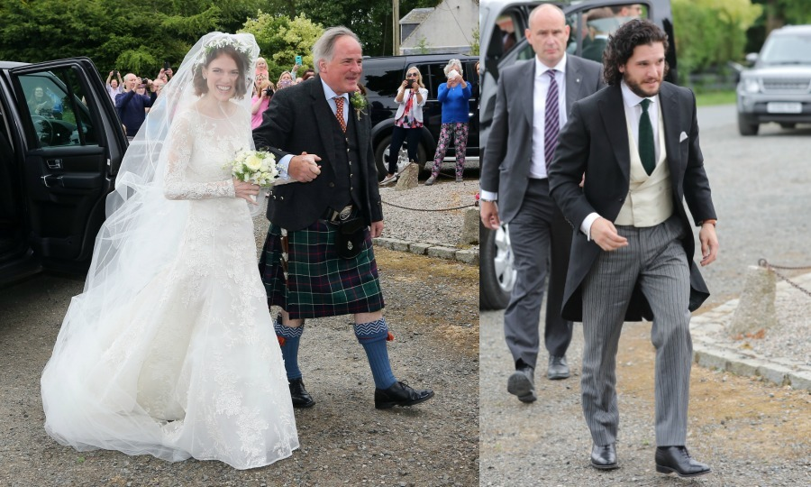 <b>Kit Harington and Rose Leslie</b>