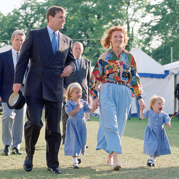 <b>Sarah Ferguson and Queen Elizabeth II's second son Prince Andrew were childhood friends who started a romance after meeting again at Royal Ascot in 1985. The couple married on July 23, 1986, and over the next four years welcomed two adorable little girls, Princess Beatrice and Princess Eugenie.