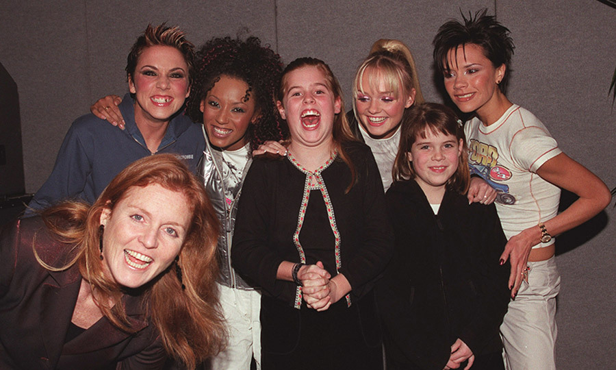 Our 1990s selves can definitely understand Princess Beatrice's excitement! The royal, along with Sarah, Duchess of York and Princess Eugenie, got to meet the Spice Girls backstage at an Earls Court concert in December 1999.
