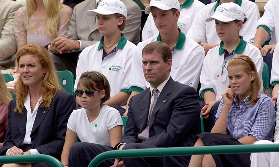 Around four years after their divorce, in July 2000, Prince Andrew and Sarah showed a united family front with their daughters at an NSPCC charity tennis tournament held at Buckingham Palace.