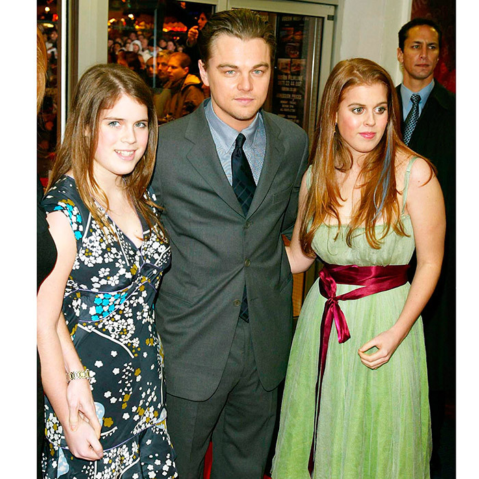 The royal sisters had a red carpet moment with Hollywood star Leonardo DiCaprio at the premiere of his film <I>The Aviator</I> at the Odeon West End in December 2004.
