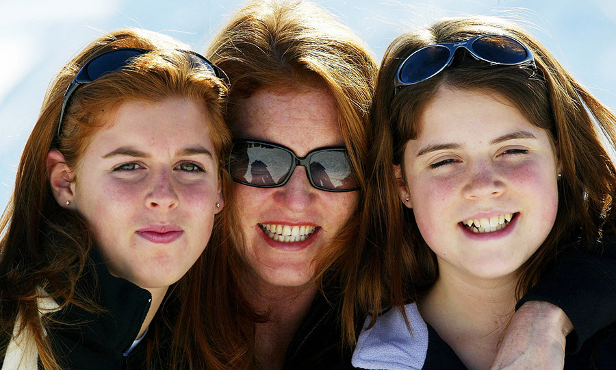 Smile, girls! In February 2004, teenagers Beatrice and Eugenie snuggled up with Sarah, Duchess of York for a sweet mother-daughter photo in Verbier, Switzerland. 