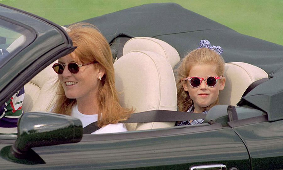 Convertible? Check! Cool sunglasses? Double check! Sarah, Duchess Of York and a seven-year-old Princess Beatrice hitched a ride with the Duke of York in his new Aston Martin back in August 1996.