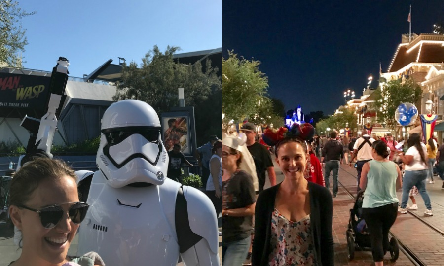 Natalie Portman spent some much needed time at the happiest place on earth. The 37-year-old <i>Star Wars</i> actress hung out with her family and some familiar faces at Disneyland in California. Natalie must have felt like her <i>Star Wars</i> character Padme when she ran into some Stormtroopers on the lot.