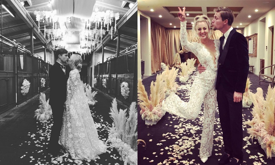 <b>Kaley Cuoco and Karl Cook</b>